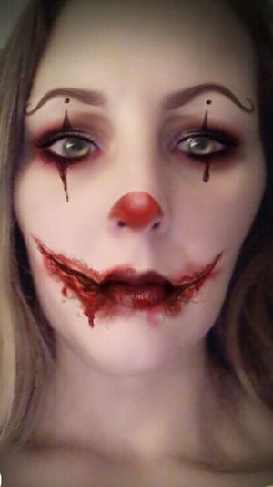 Human Face Human Body Part One Person Adult One Woman Only One Young Woman Only Young Adult Close-up Spooky Young Women Make-up