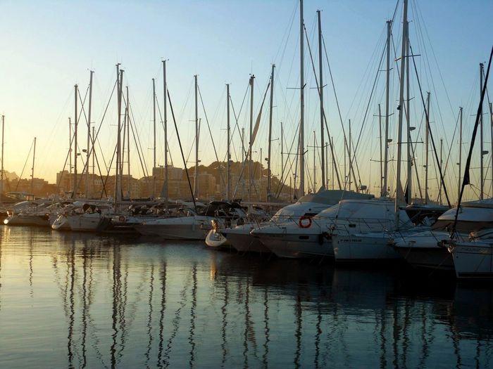 Evening sun in Denia Denia SPAIN