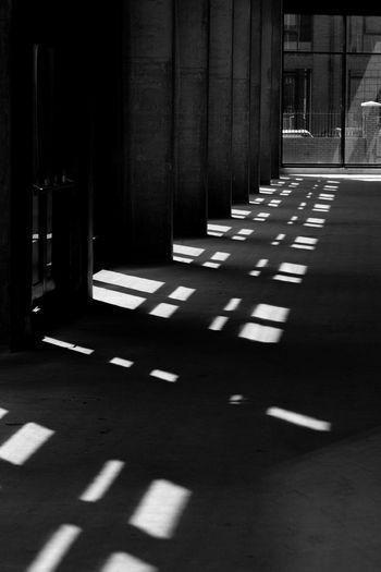Sunlight falling in building
