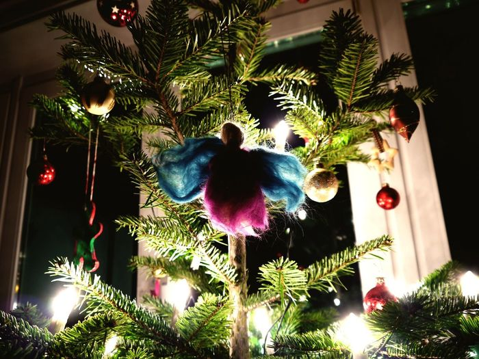 Christmas Christmas Tree Angel Frohe Weihnachten da draußen!