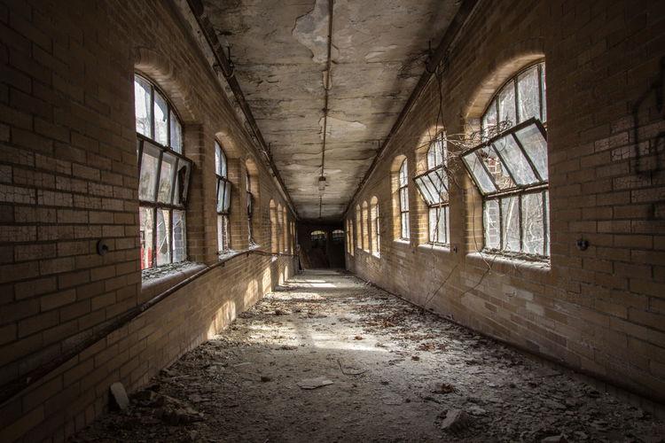 Corridor of abandoned hospital