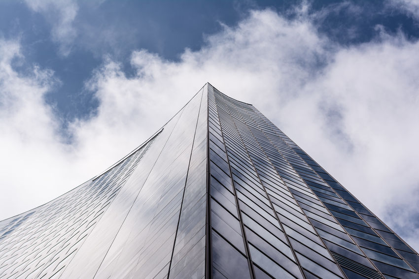 Architecture Architecture_collection Architecturelovers Building Building Exterior Built Structure City Cloud Directly Below Eye4photography  EyeEm Best Shots EyeEm Gallery Leipzig Lookingup Low Angle View Minimalism Modern Office Building Simplicity Sky Skyscraper Tall - High The Architect - 2016 EyeEm Awards Urban Urban Geometry