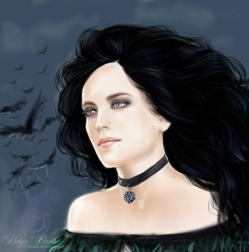 1995paint 2017 HelgaPaint Sapkowski Woman Yennefer Art Artcosplay Beautiful Face  Beautiful Woman Blackhair Evagreen Face Fantasy Longhair One Person Person Portrait Thewitcher Thewitcher3 Thewitcher3wildhunt Witch Woman Portrait Yen Yenneferofvengerberg