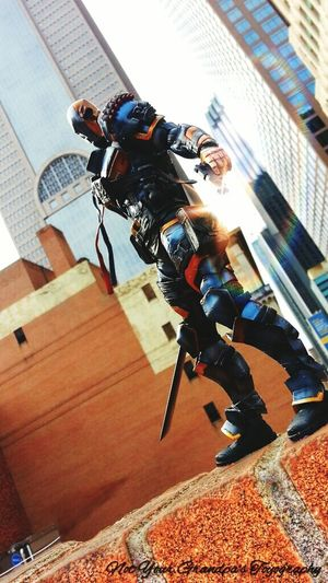 NYGT Not Your Grandpa's Toyography DC Comics Dallas Downtown Batman Deathstroke Toy Photography Action Figures