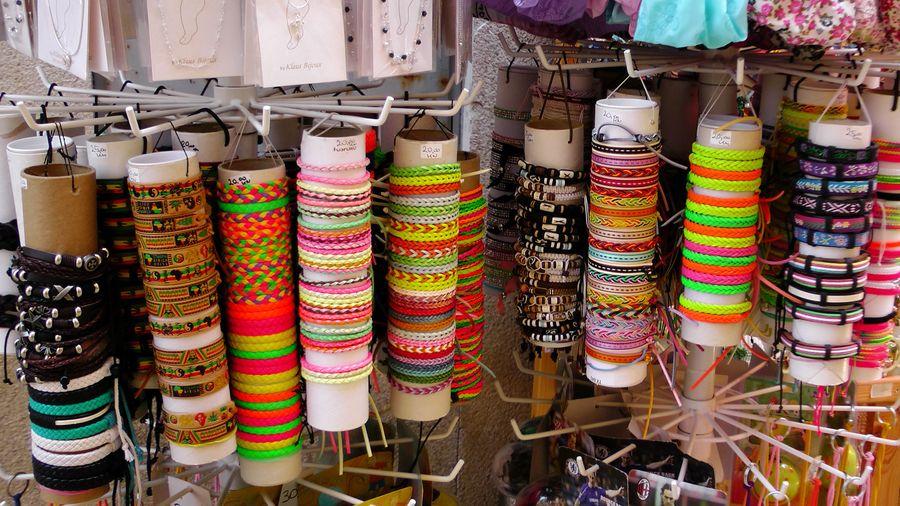 Multi colored bracelets for sale in store