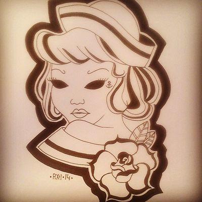 +SAILORGIRL+ Drawingtime Drawing Malen Zeichnen pixiiart artbypixii sketching flash lovetodoit blackwhite copymarker