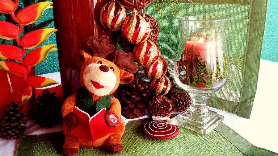 Christmas Candies Candles Christmas Flowers Fruits Nuts Reindeer Santa Claus Tropical Flowers