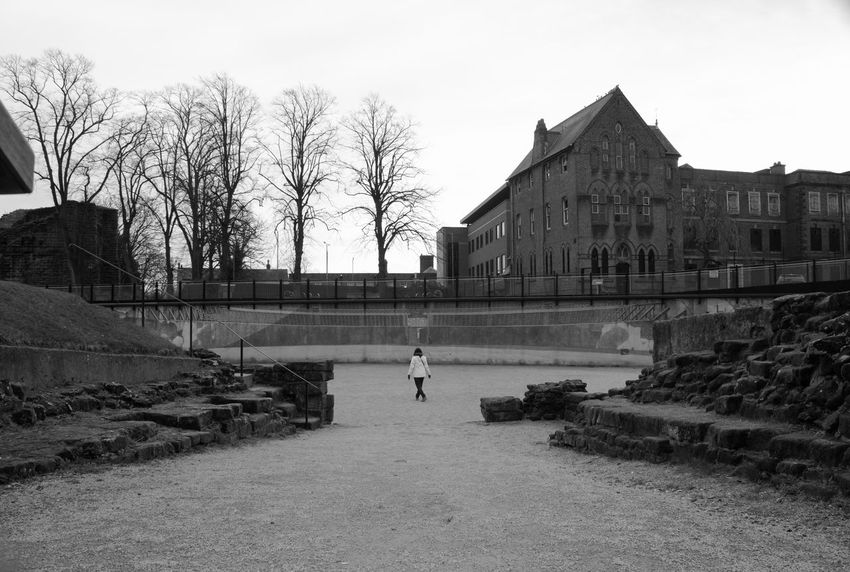 Architecture Building Exterior Outdoors Sky Day People Adult Black And White Black And White Photography History Roman Amphitheatre Ruins Ampitheatre