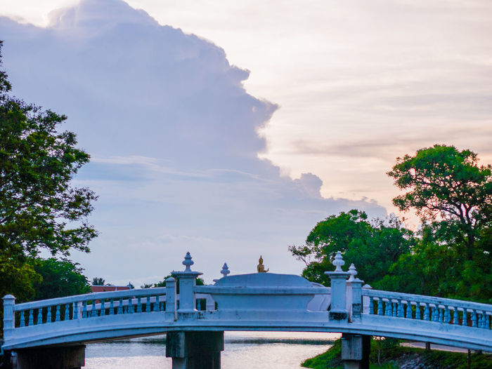 Thai view Built Structure Architecture Sky Tree Plant Cloud - Sky Bridge Nature Bridge - Man Made Structure Connection Building Exterior Day Railing Water Travel Destinations No People Outdoors Travel Transportation Balustrade