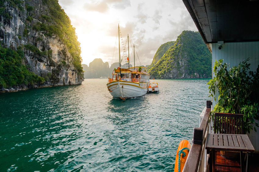 Sailing into the next adventure Asian Culture Sailing Ship Vacations Boat Cloud - Sky Day Ferry Mode Of Transport Nature Nautical Vessel Outdoors Passenger Craft People River Sailing Sky Transportation Travel Destinations Water