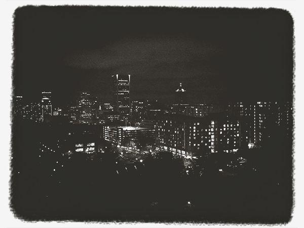 Drinking Alone Cityscape Concrete Jungle Black & White