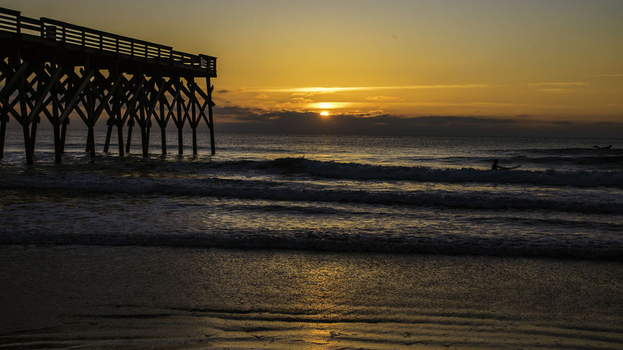 This Morning 2-05-18 sunrise at Crystal Pier Wrightsville Beach NC ... Carolina Sunrise Nikond750 Sky And Clouds Surf Tamron28300 Tranquility Wrightsville Beach NC Beach Crystal Pier Day Nature Nikonusa No People Oceanic Outdoors Outdoors❤ Portcity Sky Skyporn Sunrise Sunrise_sunsets_aroundworld Surfers Tamronusa Water