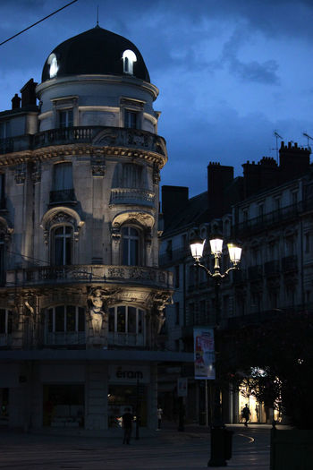 night scene in Orleans, France Abend Architecture Blaue Stunde Built Structure Calm Cities At Night Eyeem Awards 2016 City City Life Evening Illuminated Lantern Laterne Light Night Orléans Outdoors Shadows Sky Street Travel Travel Photography