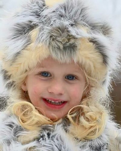 The Portraitist - 2016 EyeEm Awards Winter Fur Coat Fur Babies Blue Eyes Smile Kids Little Girl Cloesup Cheese