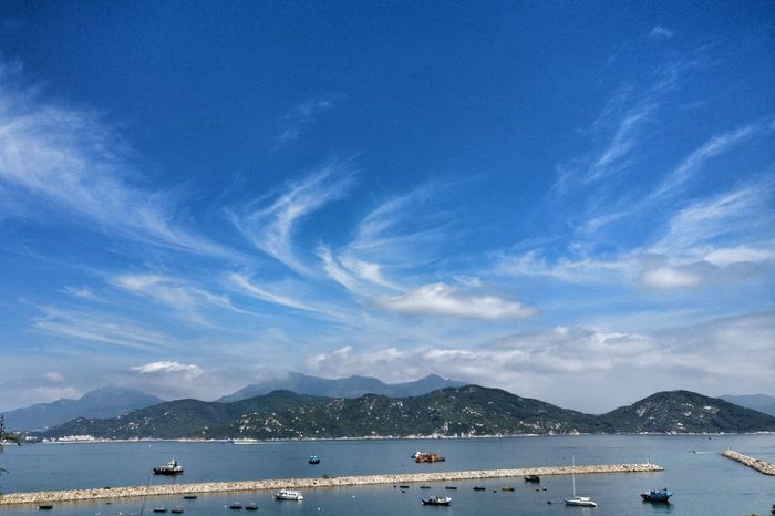 Water Sea Blue Mountain Outdoors Cloud - Sky Summer Day No People Nature Beauty In Nature HongKong Mobilephotography Snapseed Cheung Chau Travel Destinations Oneplus3 EyeEmNewHere Tourism Zisunword Art Is Everywhere The Great Outdoors - 2017 EyeEm Awards