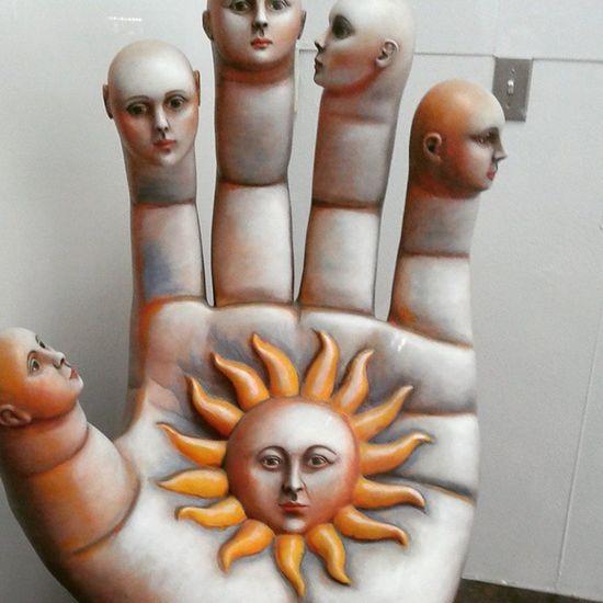 Contempoaryart Eye DownTownLasVegas Sun Hands Hamsa Hamsa Hand