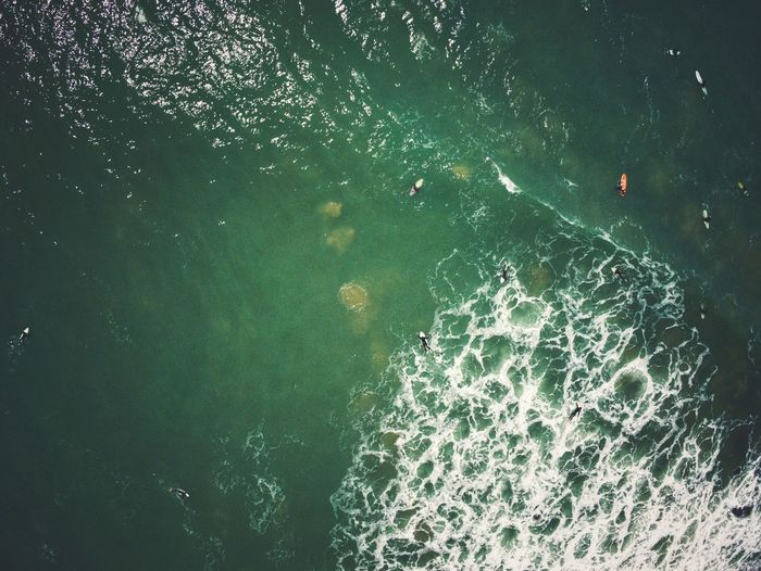 Surfers Eagle View View From Above EyeEm Selects EyeEm Best Shots EyeEm Nature Lover EyeEm Gallery Surfers Surf Ocean Water Drone  Drone Photography Water Backgrounds Full Frame High Angle View Close-up Calm Floating In Water Smooth Aerial View