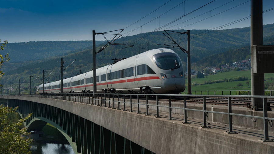 Bridge Brücke Deutsche Bahn Eisenbahnbrüc Eisenbahnbrücke Ice Main Pont Railway Bridge