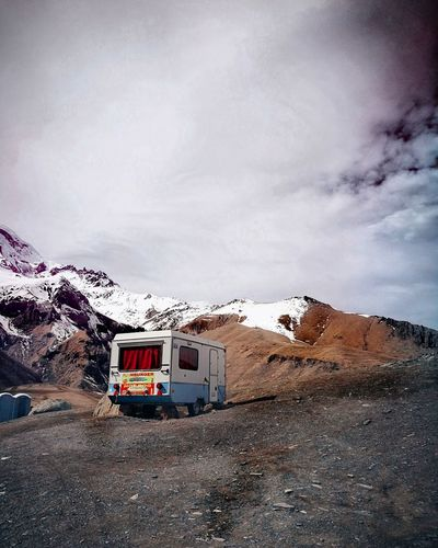 home Lonely Silence Moment In The Middle Of Nowhere Left Moments Mountain Sky Vehicle Camping Van