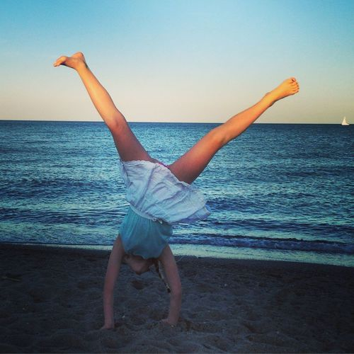 Oh to be 10 again. Holidays France Canetplage Summer Cartwheel Freedom