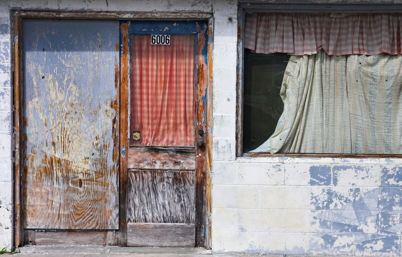 Decaying House Architecture Building Exterior Built Structure Closed Curtain Damaged Day Decay Derelict Dereliction Deterioration Door Doors Drama Exterior Façade House House Front Old Outdoors Weathered Window