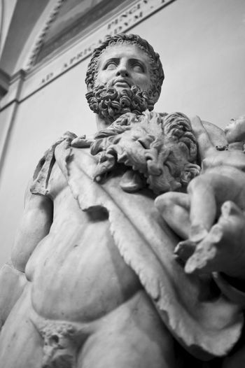 Low Angle View Of Hercules Statue At Vatican Museums