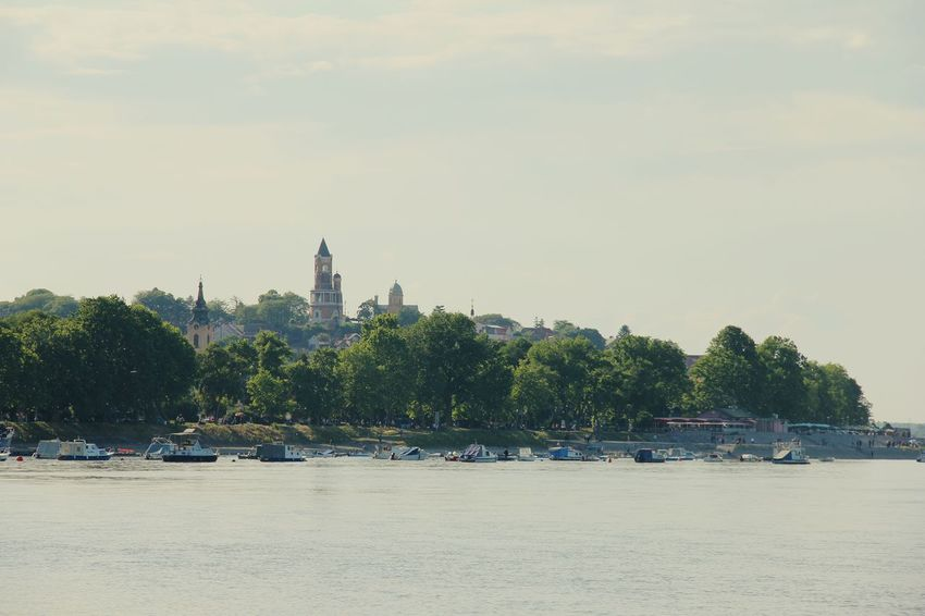 Belgrade Zemun Gardos Historical Place River Sky Boats Tree Boardwalk Hidden Gems  My Favorite Place