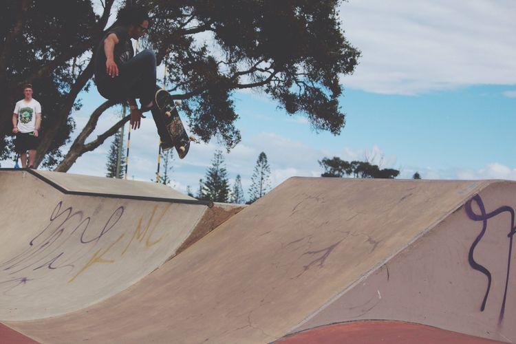 Skateboarding Hello World Quality Time Enjoying The Sun