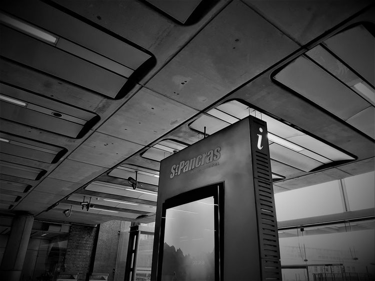 St Pancras International Station UK 2017 2017 2017 Year 2017 Photo Black & White Black & White Photography London 2017 Travel Travel Photography Architecture Black And White Black And White Photography Black&white Blackandwhite Blackandwhite Photography Blackandwhitephotography Built Structure Communication Day Indoors  Low Angle View No People Sky Text Travelphotography Western Script