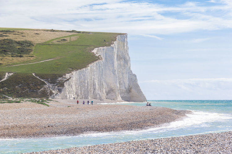 Seven sisters chalk cliff in sussex