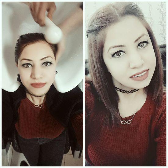 Süslenme sırası bende yihuuu 😃😂😛😜 Hairstyles Hair Hello World Fashion Hair Make Up Makeup Couffeur Kuaför Relaxing