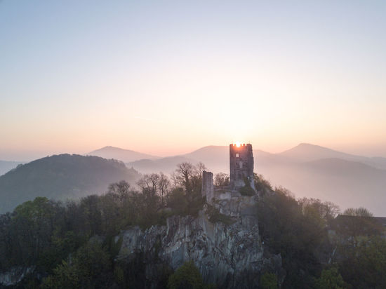The reamins of castle 'Drachenstein' near Bonn on a truly magical morning a few weeks ago. This is the very first shot I took with my Mavic and I think it turned out quite well :) Aerial View Architecture Beauty In Nature Birds Eye View Bonn Building Exterior Built Structure Castle Clear Sky Day Dji Drone  Landscape Lighthouse Mountain Nature No People Outdoors Scenics Sky Sunrise Sunset Tranquility Travel Destinations Tree