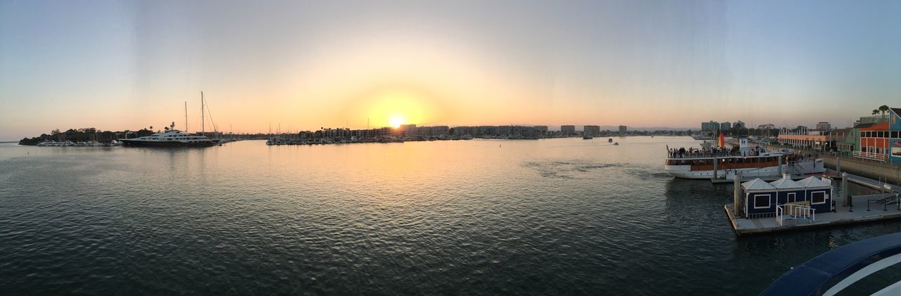 Sunset cruise in Marina Del Rey. Enjoying Life Romantic Landscape