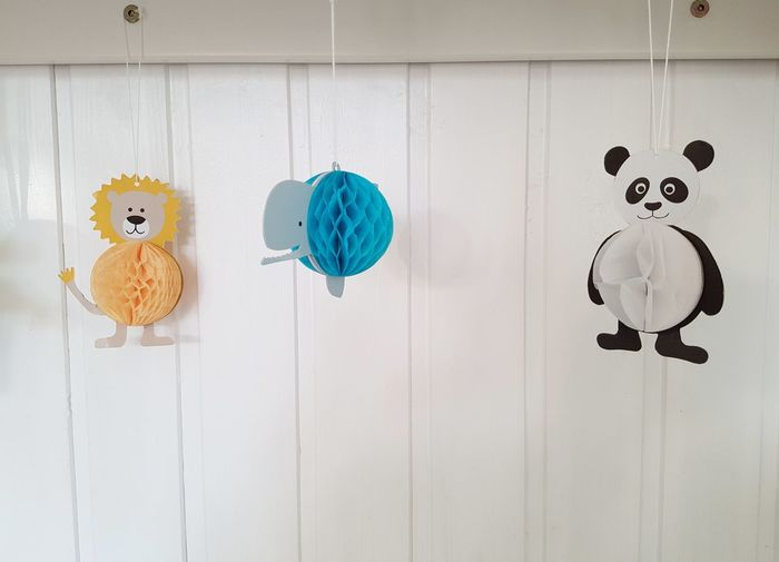 Nursery Hanging No People Blue Nursery Children's Room What's That? Learning How To Talk Growing Up At Home Wall White Background Toddler  Childhood Lion Wale Panda Bear Papercraft Toys Baby Animals Light Colors Decoration Happiness Mommy And Baby Interior Design Wild Animals