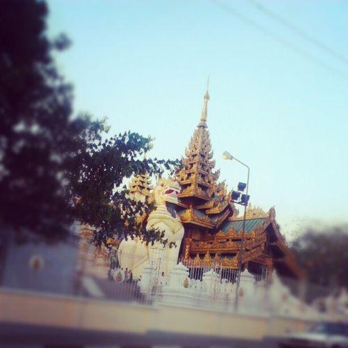 Shwedagon Pagoda Southern Entrance Yangon Myanmar