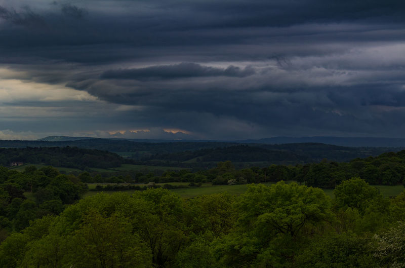 Cloud Cloudy Dramatic Sky England Landscape Lush Foliage Nature Outdoors Scenics Sky Storm Stormy Surrey Surrey Hills Weather Newlands Corner Guildford