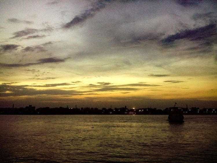 Clouds And Sky Riverbank View Sunset_collection Kolkatadiaries Babghat