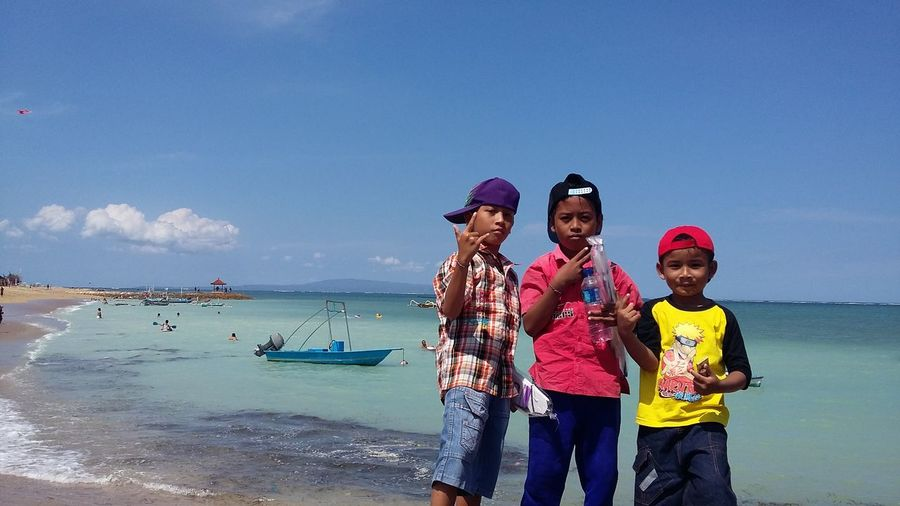 Kids in action ✌ Leisure Activity Sunny Day In The Beach Balinesse Kids Casual Clothing Having Fun Take Over Contrast