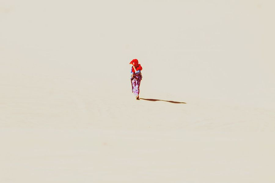 Mui Ne, Vietnam White Sand Dunes One Person Vacations Adults Only People Day Adventure Outdoors Walking In The Desert Imperfectly_captured Travel Travel Photography Abstract Nature Minimalism Copy Space Lone Figure Long Goodbye