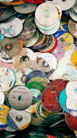 Ancient Technology Compact Disc Cd Urban Exploring Digital Life Trash Garbage Colorful Reflection