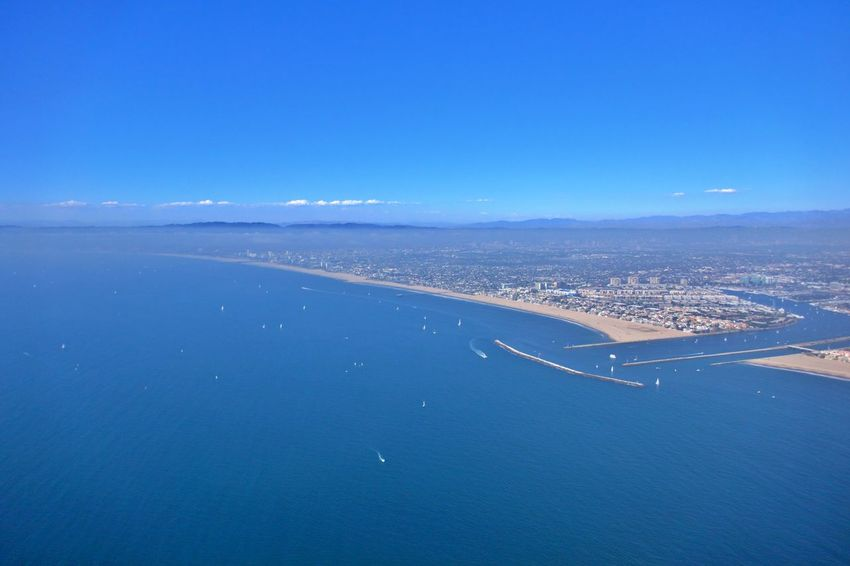 Sea Water Blue Scenics - Nature Aerial View Beach No People Travel Tranquil Scene Outdoors Cityscape Nature Land