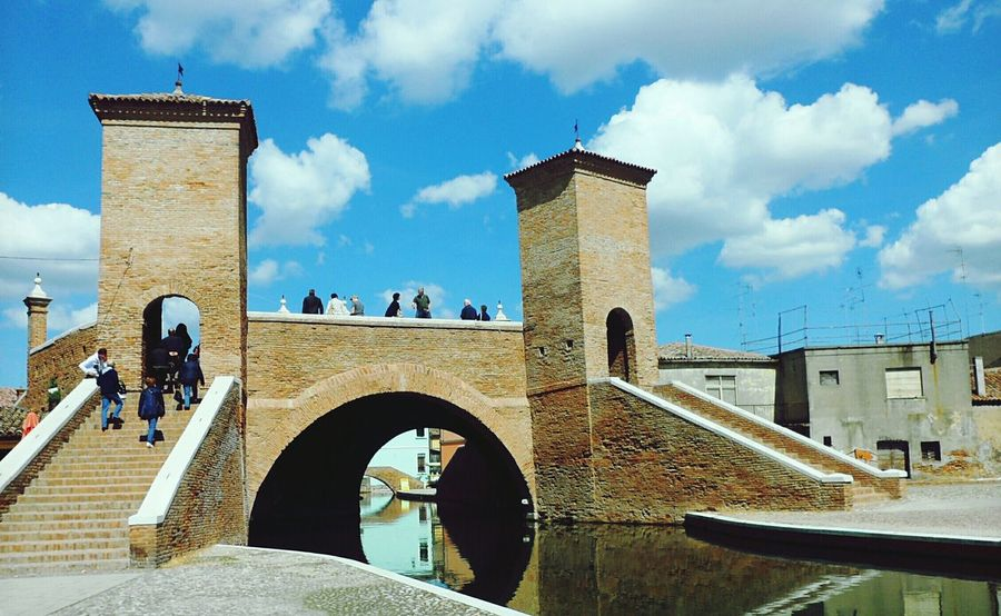 Looking To The Other Side Comacchio Tre Ponti Stairways Stairway Stair Getting Creative