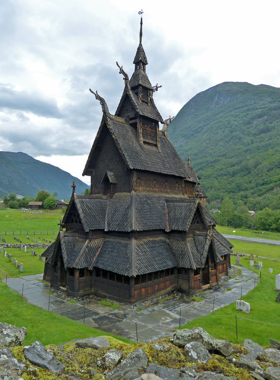 Borgund Stave Church, Norway Architecture Borgund Borgund Stave Church Building Exterior Built Structure Church Graves Gravestone No People Norway Outdoors Religion Sky Stave Stave Church