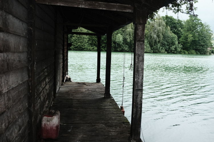 Pier over river