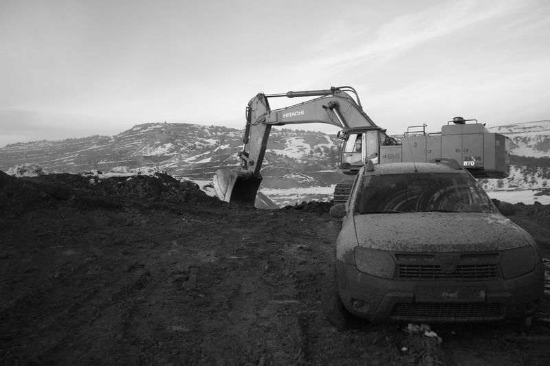 My dirty car :p The Purist (no Edit, No Filter) Blackandwhite Monochrome Car Excavator Cars Miner