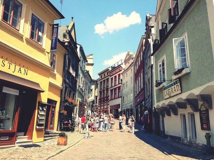 絵本のような、可愛らしい町並み!これもチェスキークルムロフにて。 Czech Republic