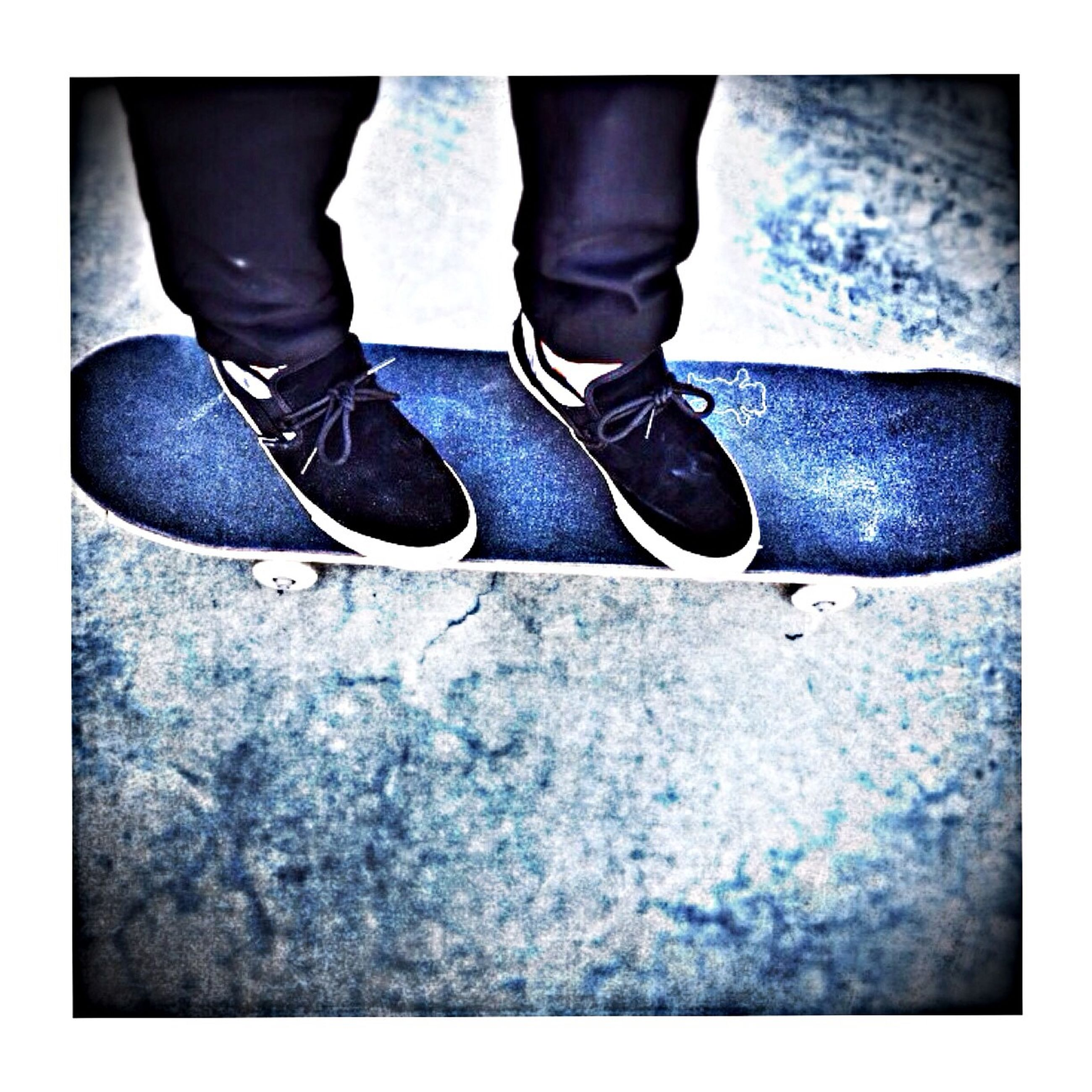 low section, person, shoe, human foot, lifestyles, footwear, standing, men, jeans, leisure activity, human limb, transfer print, part of, auto post production filter, high angle view