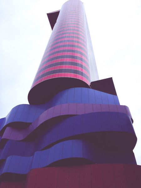Tomie Ohtake's Institute Architecture Amazing Architecture Purple Pink Blue