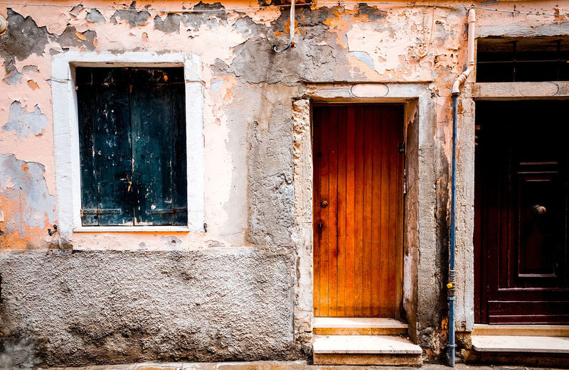 Architecture Building Exterior Built Structure Closed Day Deterioration Door Entrance Façade House No People Old Open Outdoors Residential Building Residential Structure Run-down Weathered Window Wood - Material