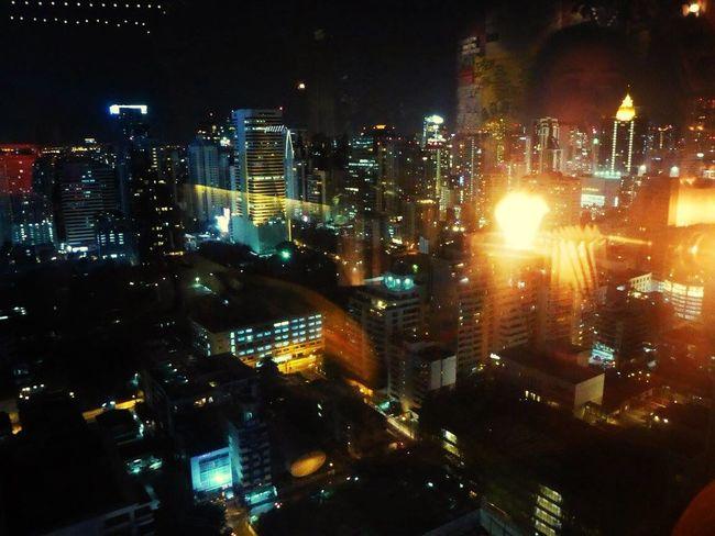 Bangkok, Thailand Cityscapes Buildings Lights Rooftop bar